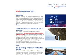 Screenshot MCN-Newsletter März 2021